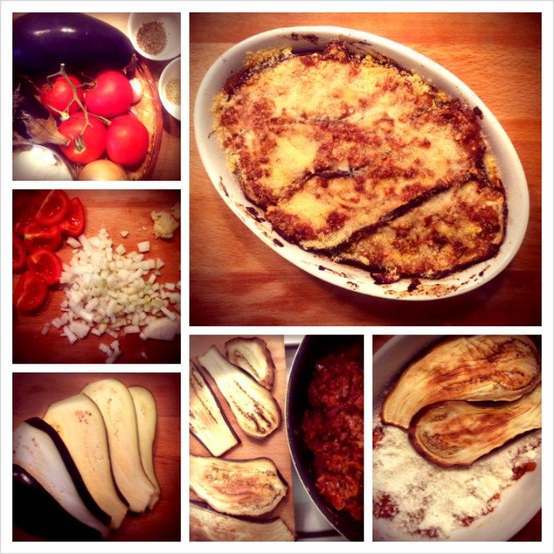 photo préparation recette Aubergines Parmigiana