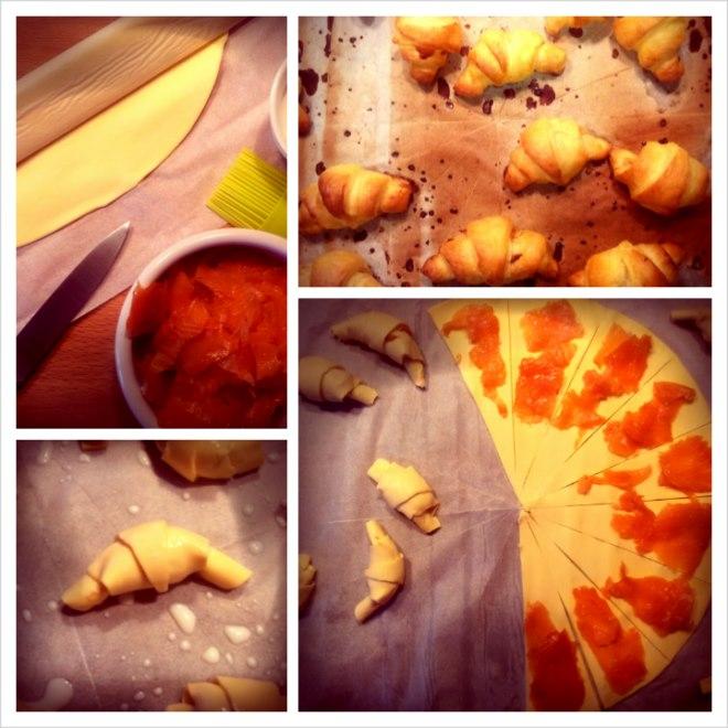 photo préparation recette Petits croissants au saumon