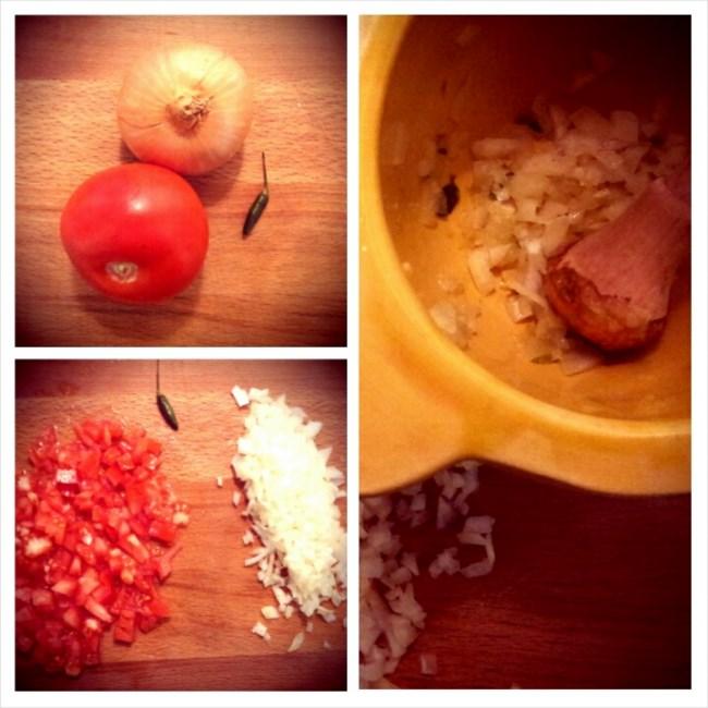 photo préparation recette Rougail de tomates