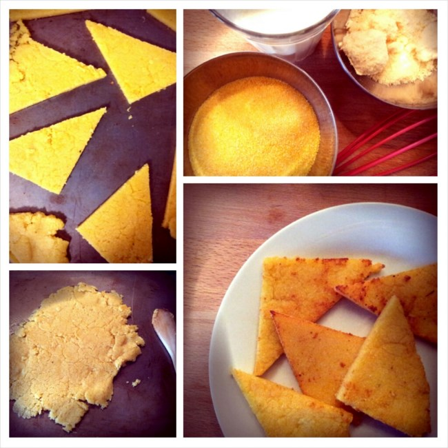 photo préparation recette Galettes de polenta