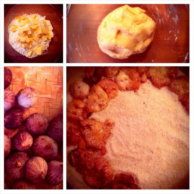 photo préparation recette Tarte aux figues et poudre d'amandes