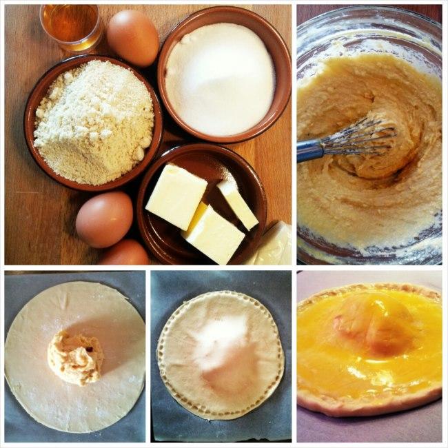 photo préparation recette Galette à la frangipane