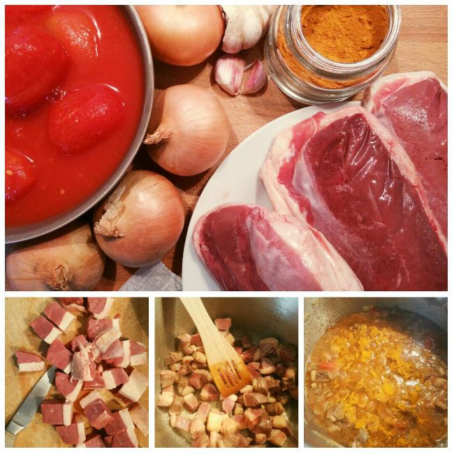 photo préparation recette Cari canard (Ile de la Réunion)