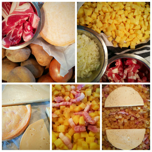 photo préparation recette Tartiflette